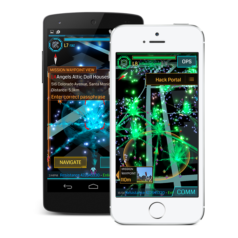 Ingress Phone screens