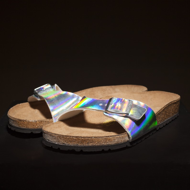 Women's silver Birkenstock Madrid sandals