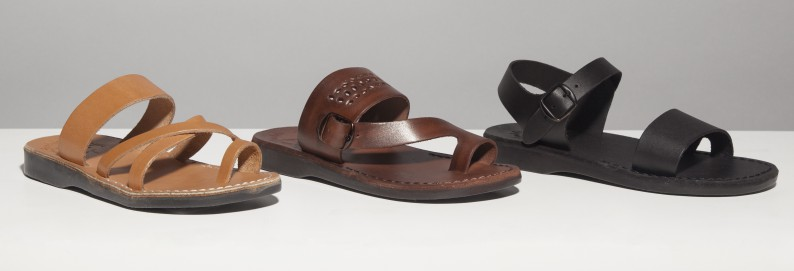 womens-black-brown-and-tan-leather-sandals-from-jerusalem