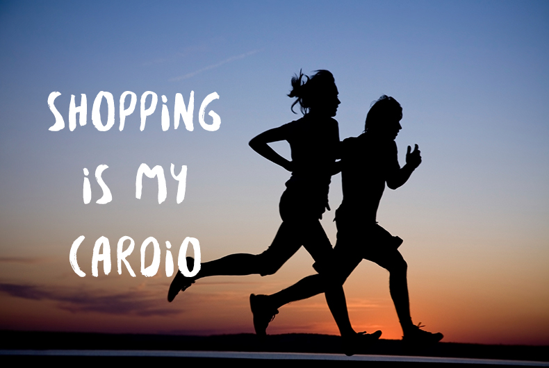 running scene with inspirational quote